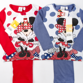 Long sleeve pajamas Minnie Mouse