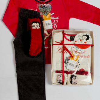 Pajamas + slippers luxury plush Betty Boop