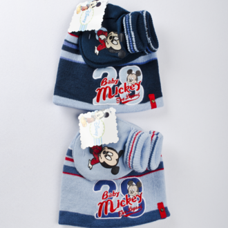 Baby set hat with gloves Mickey Mouse