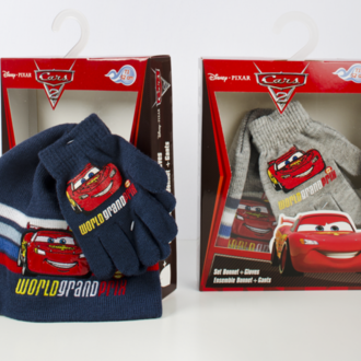 Set hat with gloves Cars Lux