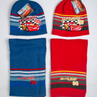 Set hat with scarf Cars