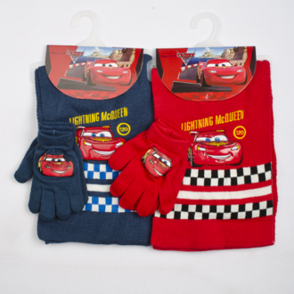 Set scarf with gloves Cars