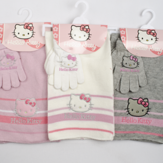 Set scarf with gloves Kitty